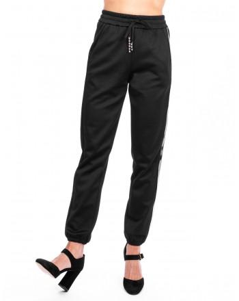 PINKO - Fleece Trousers DEPILATORE - Black