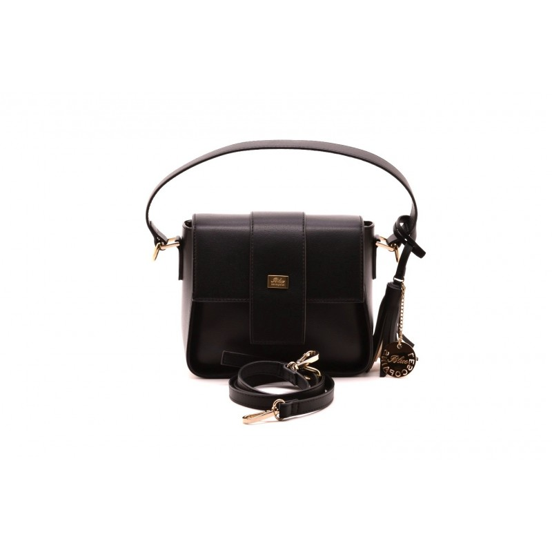 LES COPAINS BLUE - Leather Crossbody Bag - Black