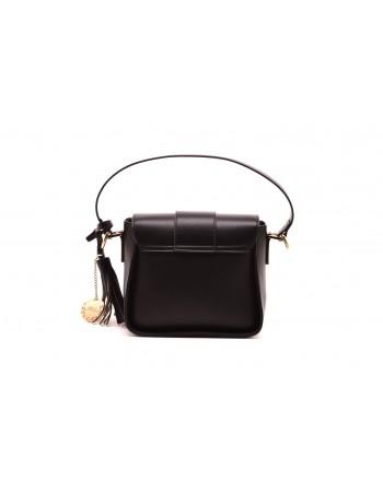 LES COPAINS BLUE - Leather Crossbody Bag - Black