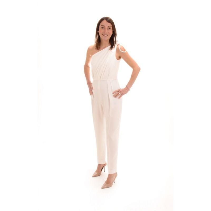 MAX MARA - One Shoulder Cady Jumpsuit  AMERIGO - White
