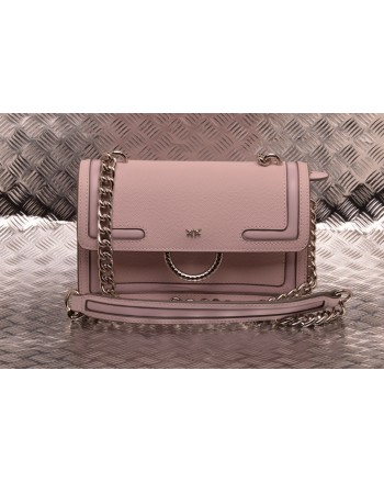 PINKO - Leather Bag MINI LOVE NEW - Light Pink