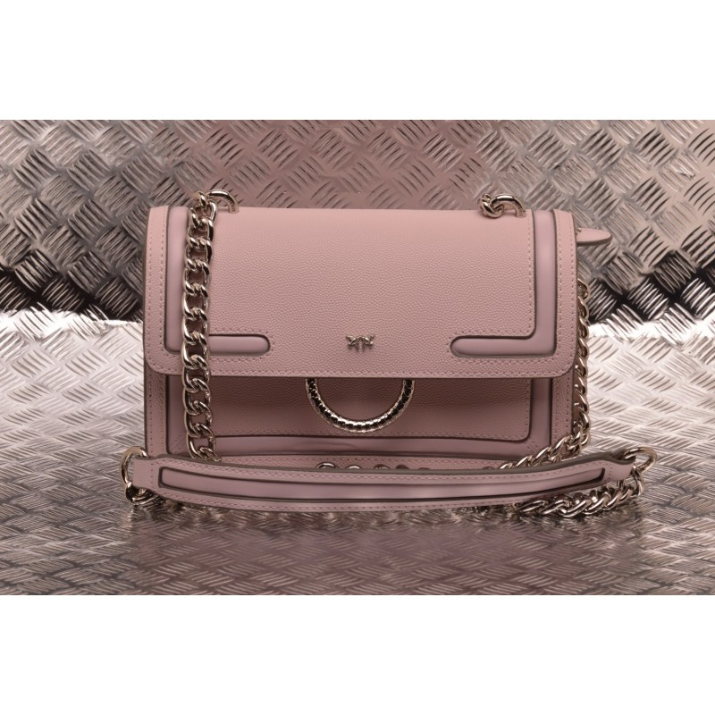 PINKO - Borsa in Pelle MINI LOVE NEW - Light Pink