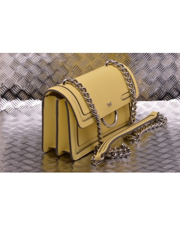 PINKO - Borsa in Pelle MINI LOVE NEW - Yellow