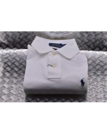POLO RALPH LAUREN -   Custom Slim Cotton Polo Shirt - White