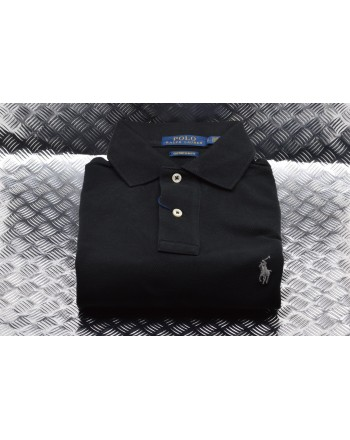 POLO RALPH LAUREN -  Polo Custom Slim in Cotone -  Nero