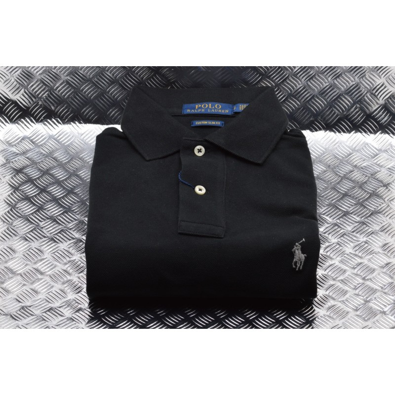 POLO RALPH LAUREN -  Polo Custom Slim in Cotone - Navy