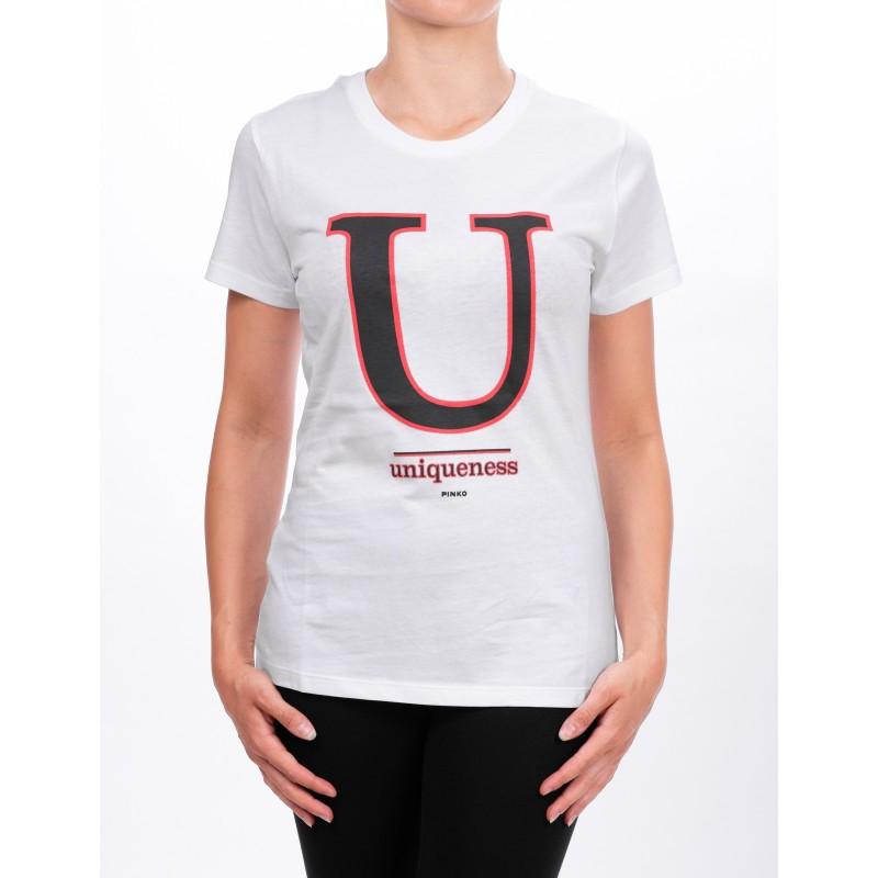 PINKO - T-Shirt in jersey CIUFFO - Bianco