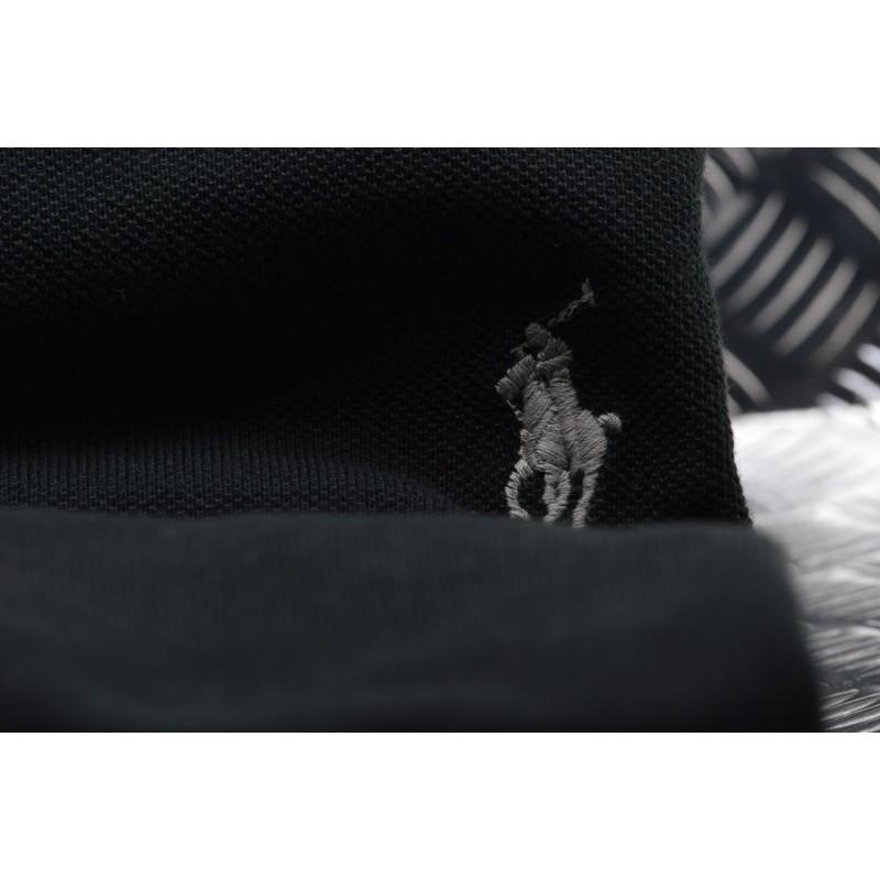 POLO RALPH LAUREN -   Custom Slim Cotton Polo Shirt - Navy
