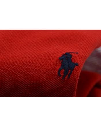 POLO RALPH LAUREN -  Polo Custom Slim in Cotone - Rosso