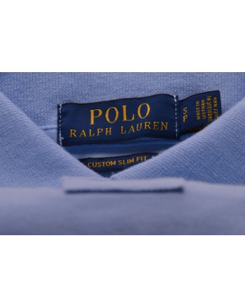 POLO RALPH LAUREN -  Polo Custom Slim Fit in Cotone - Baby Blue