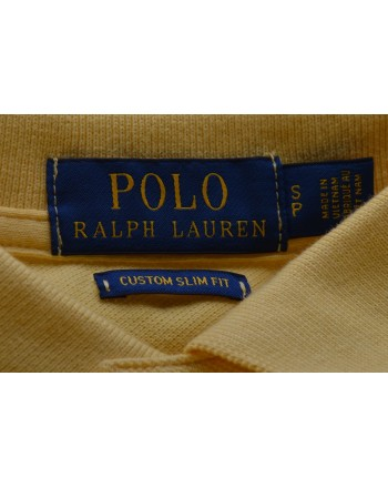 POLO RALPH LAUREN -  Polo Custom Slim Fit in Cotone - Fall Yellow