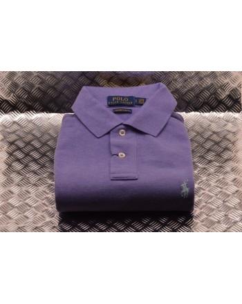 POLO RALPH LAUREN -   Custom Slim Cotton Polo Shirt - Lilac