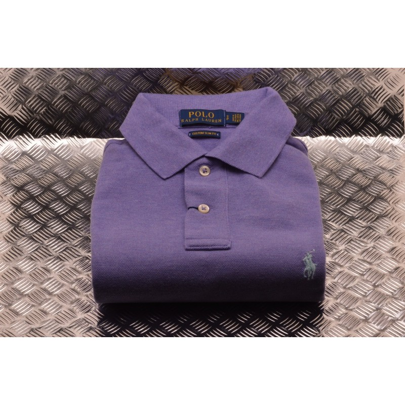 POLO RALPH LAUREN -  Polo Custom Slim Fit in Cotone - Lilla