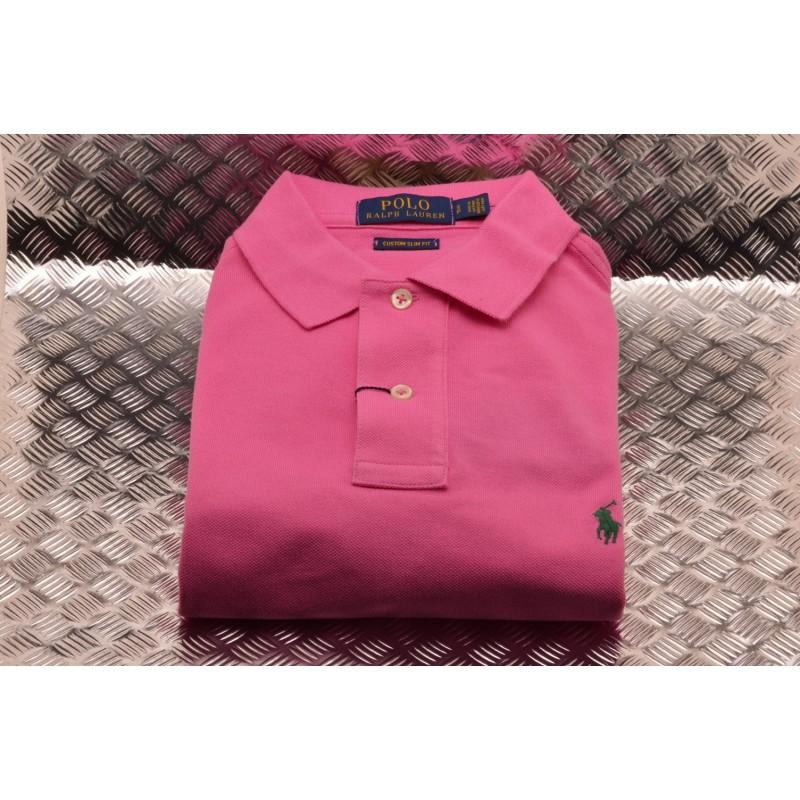 POLO RALPH LAUREN - Custom Slim Fit Cotton Polo Shirt - Maui Pink