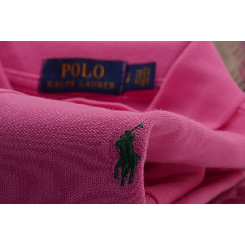 POLO RALPH LAUREN - Polo in Cotone Custom Slim Fit - Maui Pink