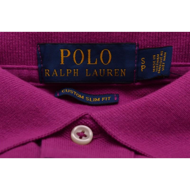 POLO RALPH LAUREN - Custom Slim Fit Cotton Polo Shirt - Royal Magenta