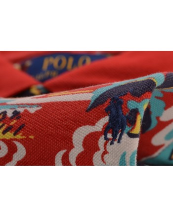 POLO RALPH LAUREN -  Polo Custom Slim Fit in Cotone - Rooso Palm