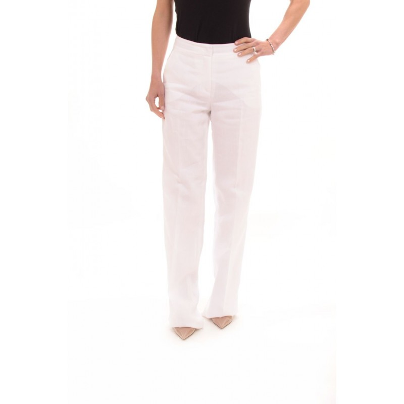 MAX MARA Linen Trousers STREET - White