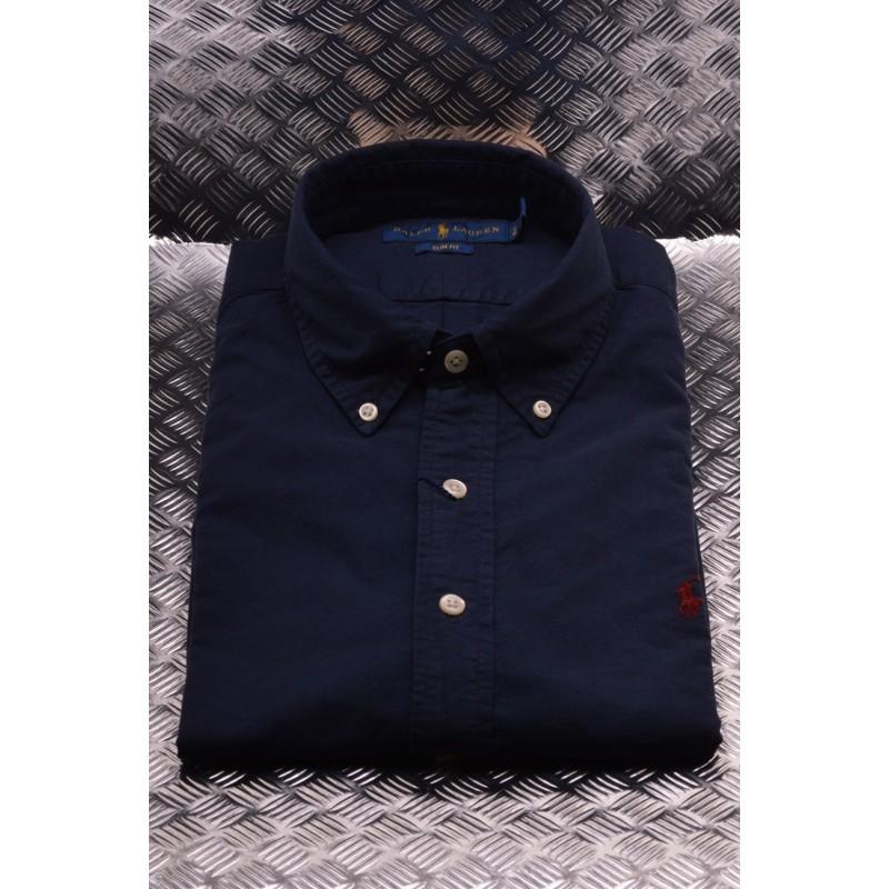 POLO RALPH LAUREN - Camicia in cotone Slim Fit - Navy