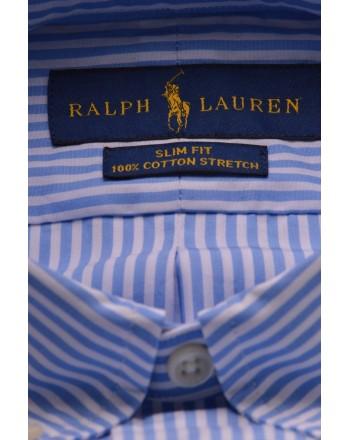POLO RALPH LAUREN - Camicia in cotone a righe - Bianco/Azzurro