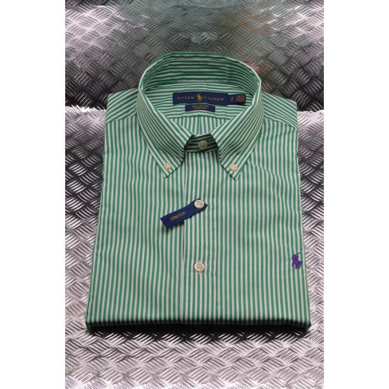 affb6632 POLO RALPH LAUREN - Striped cotton shirt - White/Green