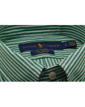 POLO RALPH LAUREN - Camicia in cotone a righe - Bianco/Verde