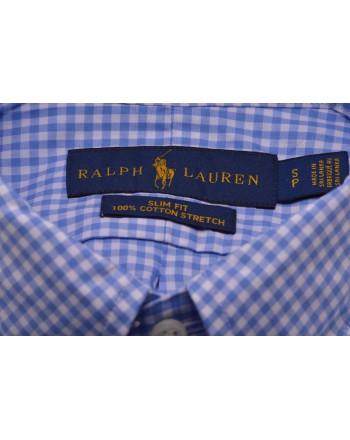 POLO RALPH LAUREN -  Camicia a quadretti in cotone - Bianco / Blu