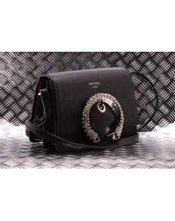 Jimmy Choo -  Leather bag with jewel - Black