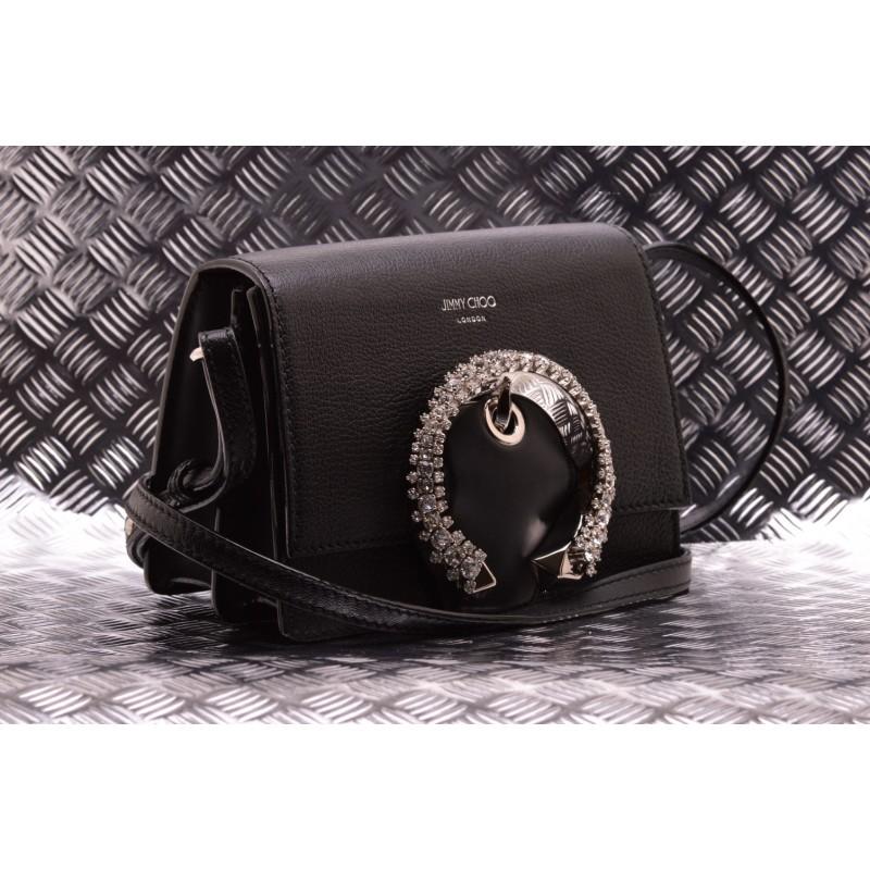 Jimmy Choo -  Leather bag with jewel - Black