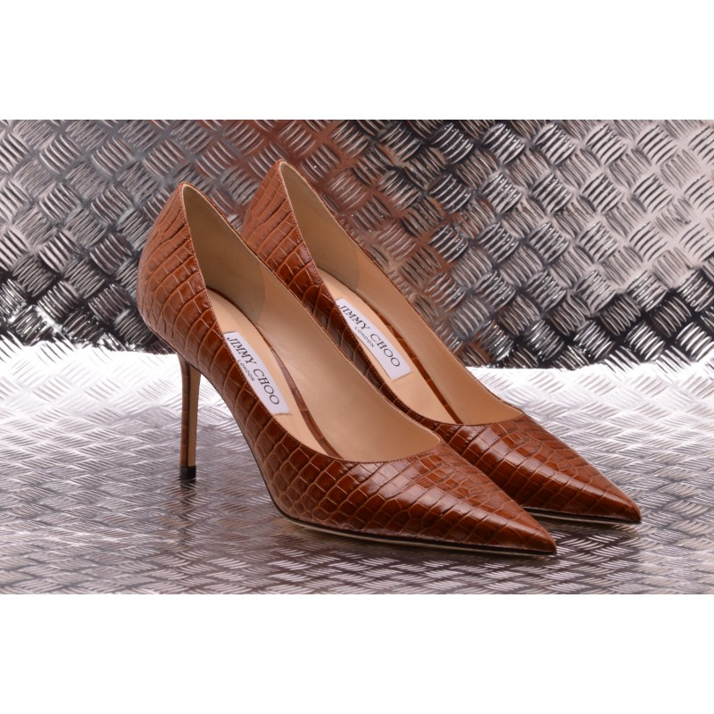 Jimmy Choo - Décollèté LOVE 85 in Leather - Brown
