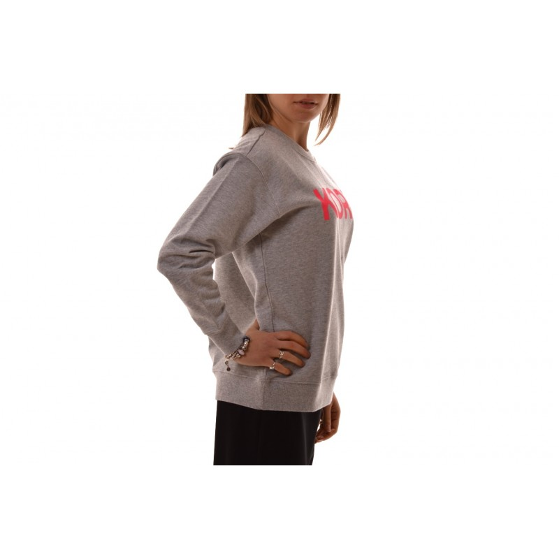 MICHAEL BY MICHAEL KORS - Cotton Sweater with Logo - Neon Pink