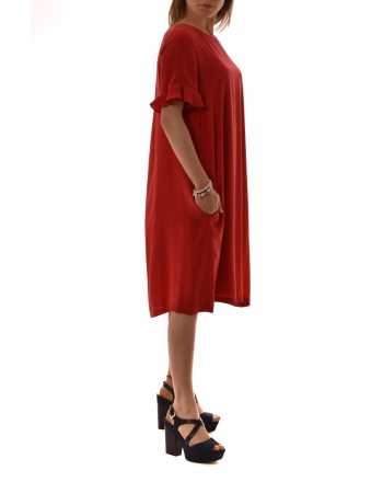 MaxMara Studio - Silk dress - Red