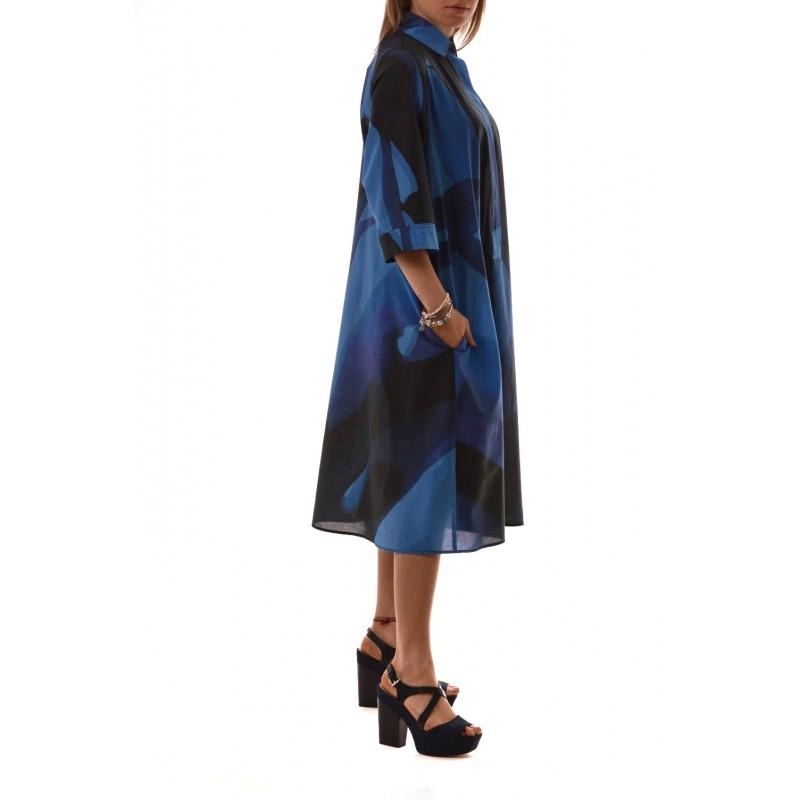 MaxMara - Silk blend dress - Blue