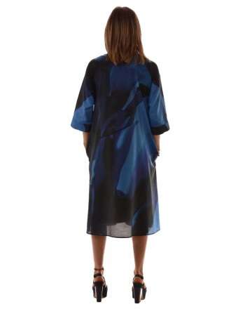 MaxMara - Silk blend dress - Blue