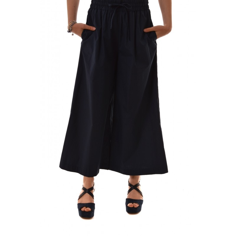 Weekend M.Mara - NIGRA cotton trousers with elastic and drawstring waist - Blue