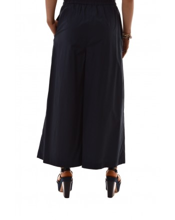 Weekend M.Mara - Pantalone NIGRA in cotone con elastico e coulisse in vita - Blu