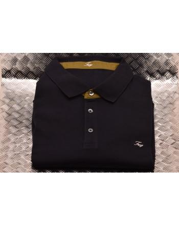 FAY- Short Sleeves Cotton Polo Shirt - Blue