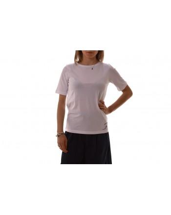 FAY - T-Shirt in cotone con Logo - Bianco