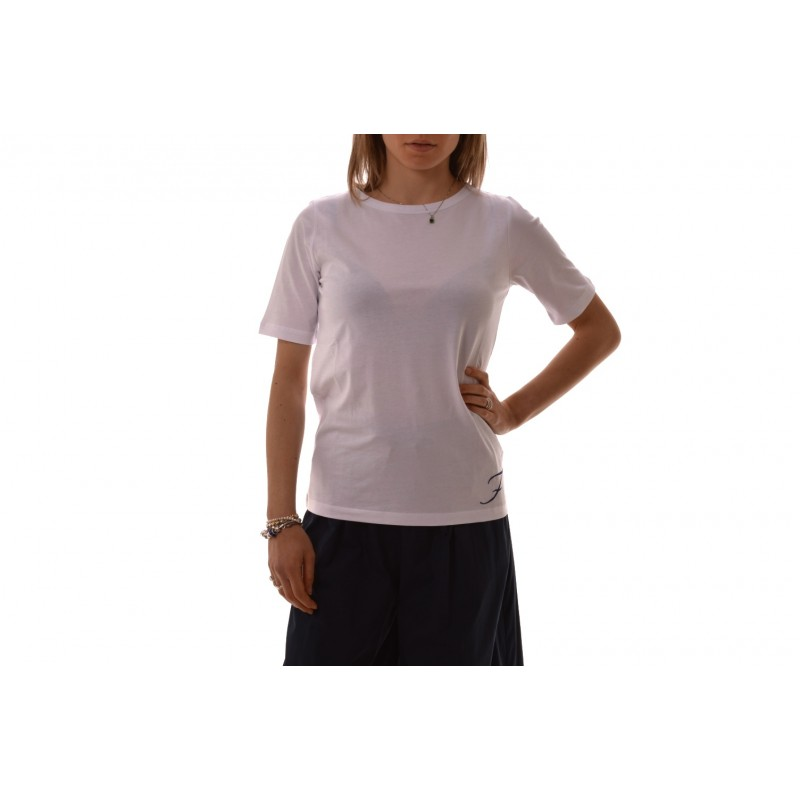 low cost d31e3 bef1a FAY - T-Shirt in cotone con Logo - Bianco