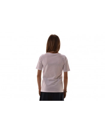 FAY- Cotton T-Shirt with Logo - White