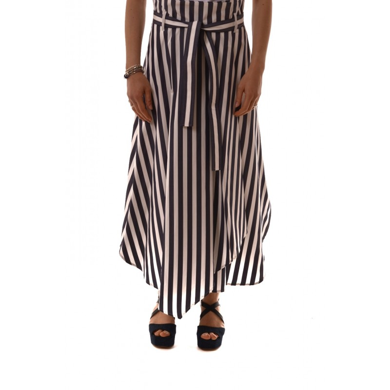 Weekend MaxMara - Cotton poplin skirt - White/Blue