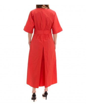 MaxMara Studio - Cotton poplin dress - Red