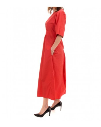 MaxMara Studio - Cotton poplin dress - Red