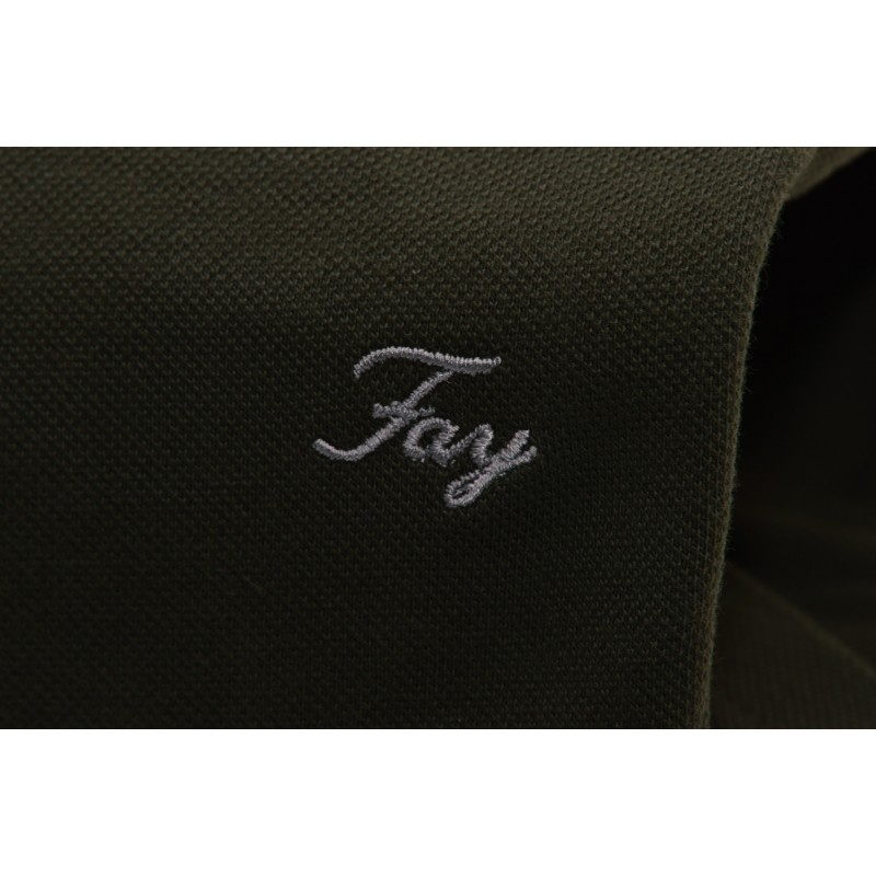 FAY - Polo in Cotone a Manica Corta - Verde