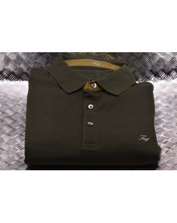 FAY- Short Sleeves Cotton Polo Shirt - Green