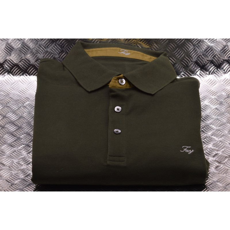 the best attitude 6c58a 9415d FAY- Short Sleeves Cotton Polo Shirt Green [Man] Elsa Boutique