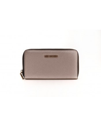 LOVE MOSCHINO - Zipper Purse - Grey