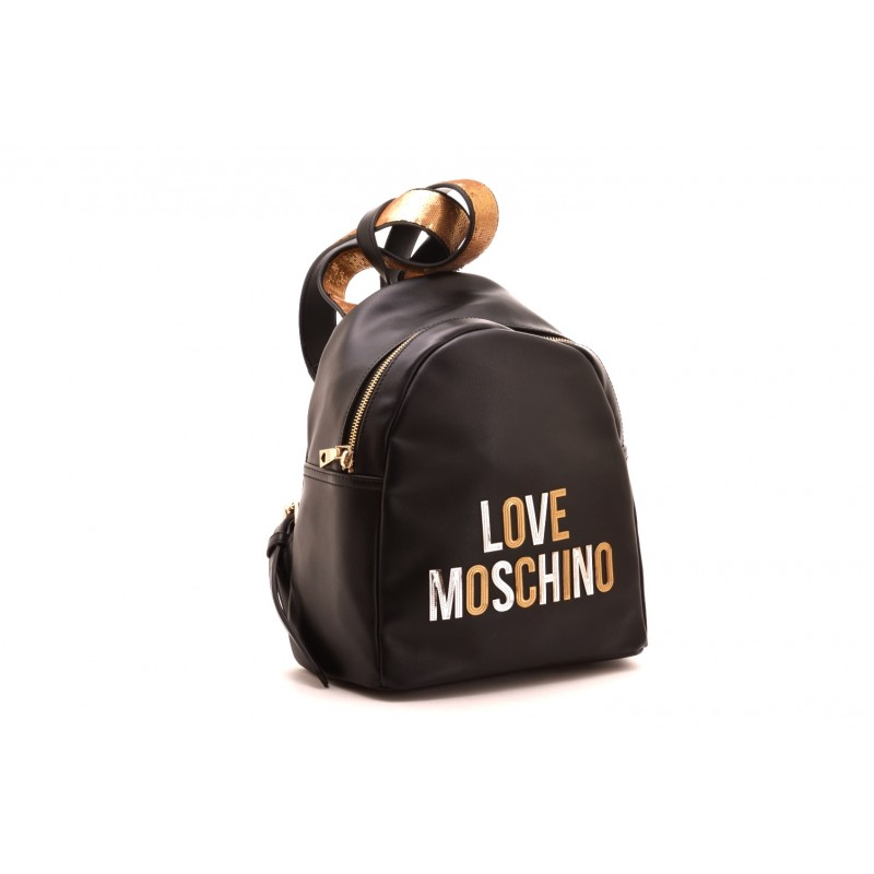 LOVE MOSCHINO - Zaino con stampa Logo in rilievo - Nero