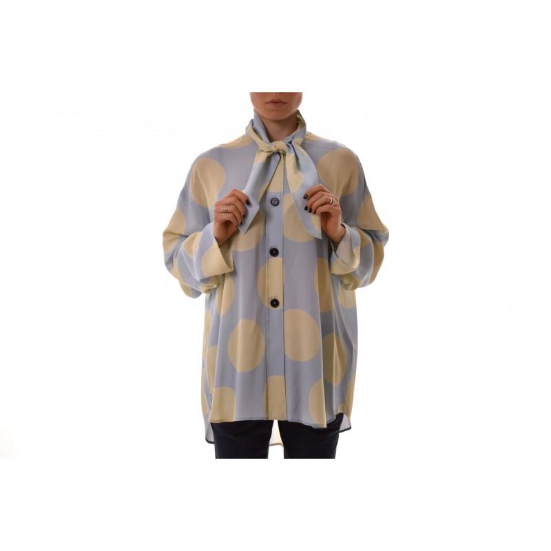 FAY - Camicia in viscosa maniche lunghe - Cielo/Acqua