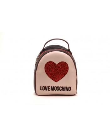 LOVE MOSCHINO - Zaino con Cuore e Logo -Nero/Avorio